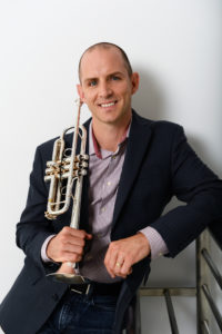 Tom Hooten with trumpet